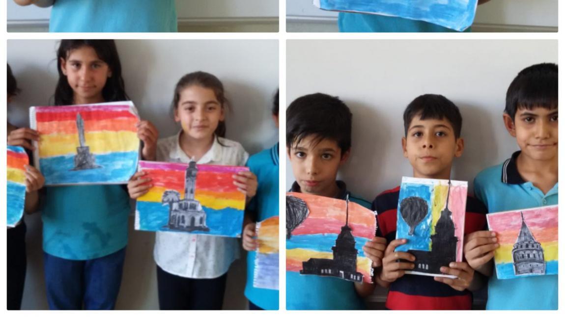 4 A Sinifi Sulu Boya Calismasi Ataturk Ilkokulu
